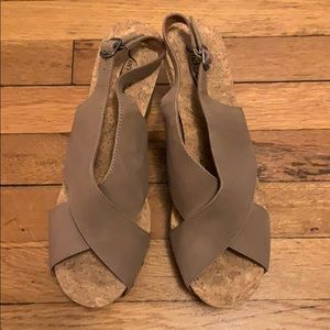 NWOT Lucky Brand Cork Wedges